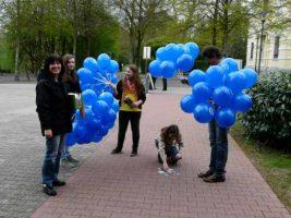 Luftballon Verteilaktion